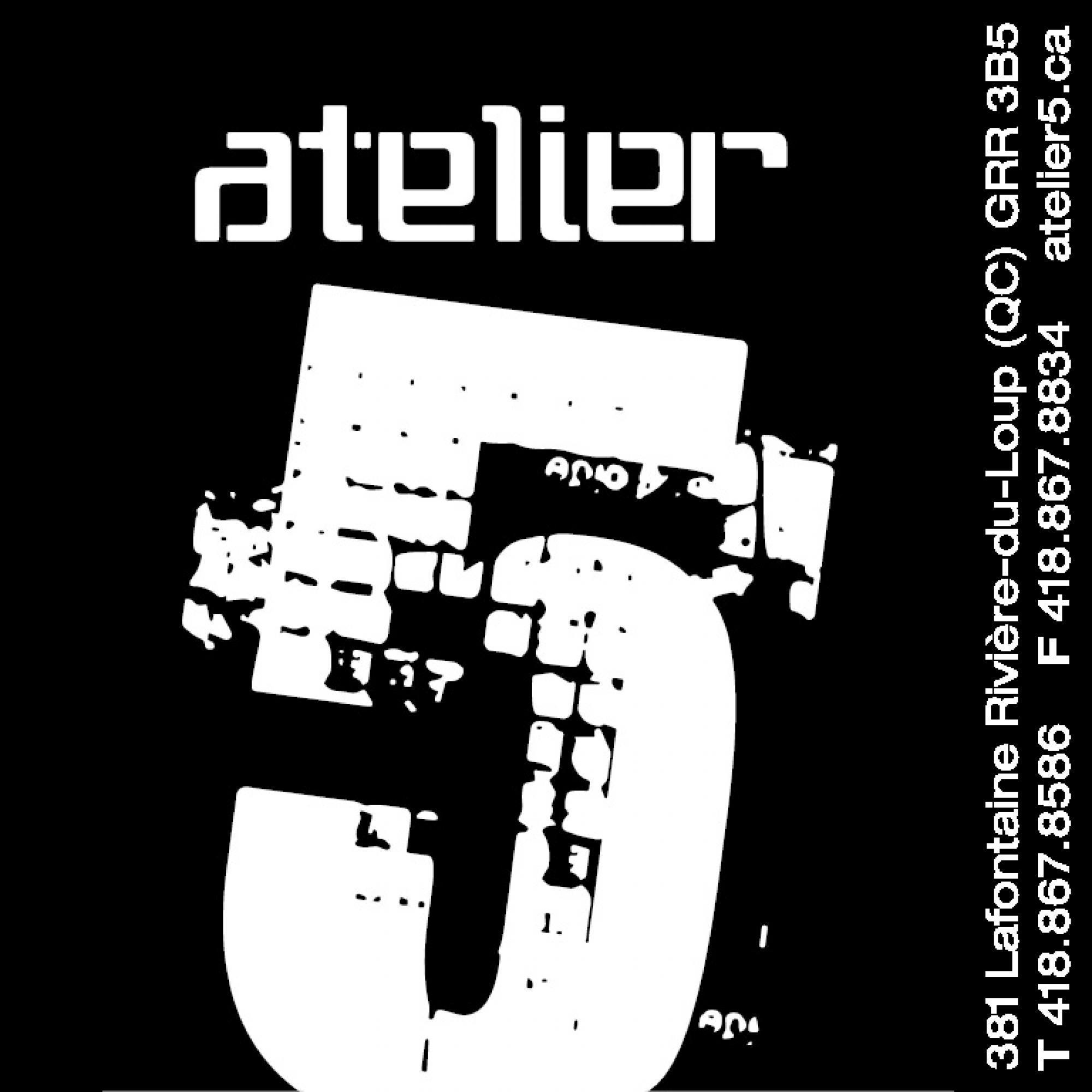 Logo Atelier 5 avec coordonnée